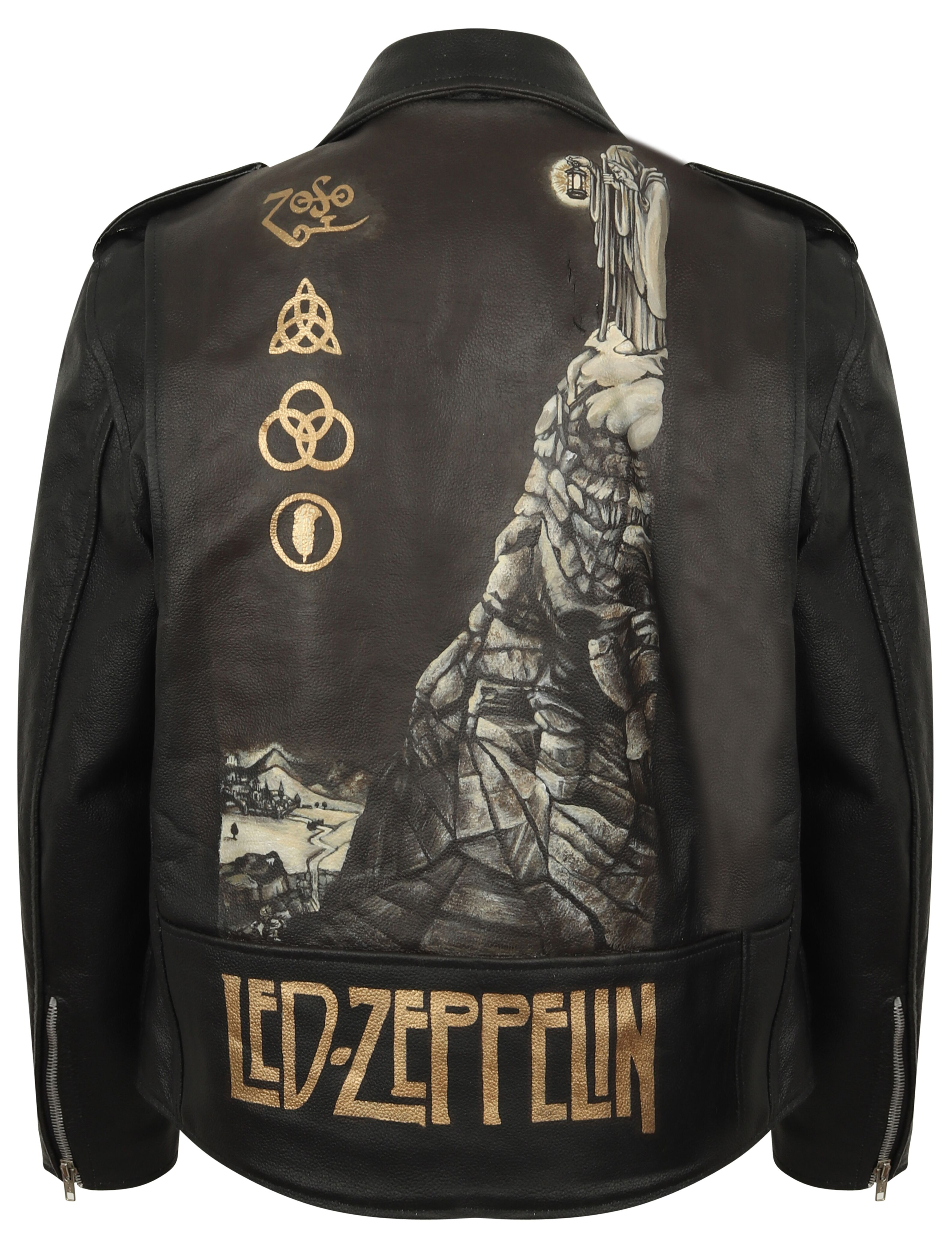 hot sale online ad933 d9a4b Led Zeppelin Leather Jacket